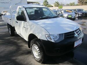 2011 Mitsubishi Triton MN MY11 GL White 5 Speed Manual Cab Chassis St Marys Mitcham Area Preview