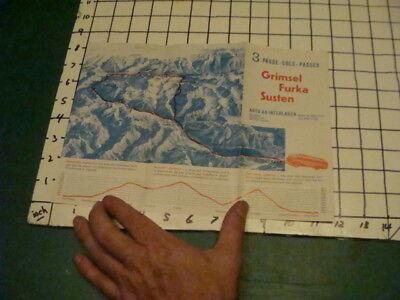 vintage brochure -grimsel furka susten Via BUS - INTERLAKEN SWITZERLAND