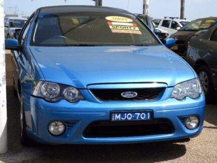 2008 Ford Falcon BF Mk II XR6 Super Cab Blue 4 Speed Sports Automatic Cab Chassis