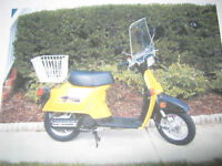 WINDSHIELD and REAR BASKET for a 1980's HONDA SPREE Scooter