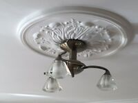 Franklin FL2163/3 Ceiling Light Antique Brass, as new condition