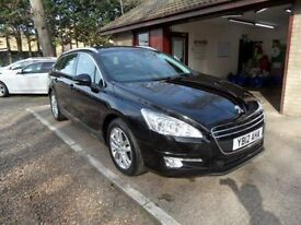 PEUGEOT 508 2.0 HDI SW ACTIVE 5d 140 BHP FULL GLASS ROOF (black) 2012