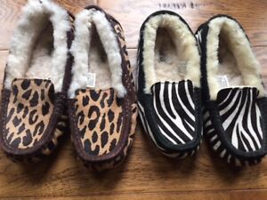 UGGS UGG Dakota slippers, moccasin size 6 and 8 brown-$65 each