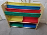 Solid wooden book case and toy storage stand great condition great working