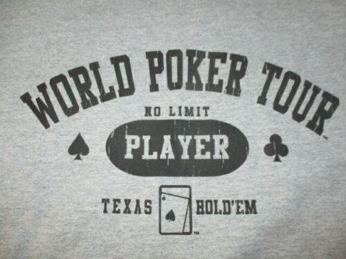 WORLD POKER TOUR No Limit PLAYER (XL) T-Shirt TEXAS HOLD