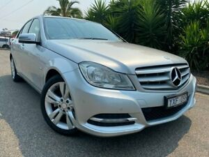 2012 Mercedes-Benz C200 W204 MY12 BE Silver 7 Speed Automatic G-Tronic Sedan