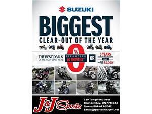 SUZUKI MOTORCYCLE BLOWOUT
