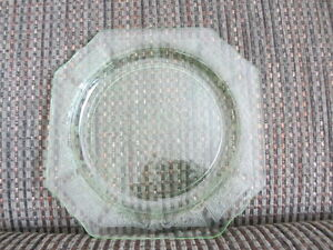 Vintage Green Depression Glass Plate Ph. (705)949-3809
