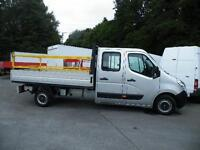 2012 Vauxhall Movano Double Cab Dropside 7 seat ,125 bhp, air con, bluetooth