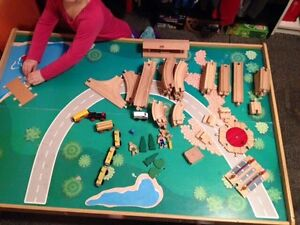 Train Table with over 150 pieces!
