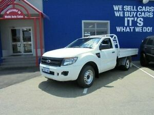2012 Ford Ranger PX XL 4x2 White 6 Speed Manual Cab Chassis Welshpool Canning Area Preview