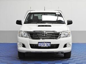 2013 Toyota Hilux KUN16R MY12 SR White 5 Speed Manual Dual Cab Pick-up Morley Bayswater Area Preview
