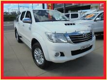 2011 Toyota Hilux KUN26R MY12 SR5 White 4 Speed Automatic Utility Holroyd Parramatta Area Preview