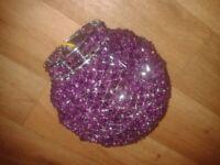 New/unused purple round beaded ceiling shade