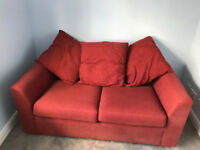 Sofa bed -2 seater - Red from M&S