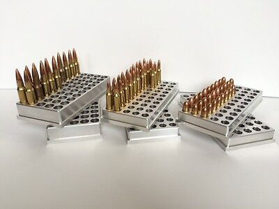 300 Remington Ultra Magnum Reloading block ( CNC Machined Aluminum )