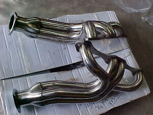 TRI 5-1955,56,57 SBC CHEVY HEADERS (only black left) long tube London Ontario image 5