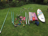 Windsurfing set Including mistral board and 3 north Sails