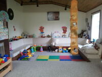 Space available in a licensed daycare
