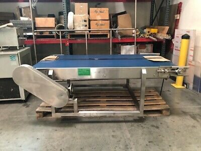 Power Belt Conveyor System With Rubber Belt- Approx. 82 L X 40 W X 27 H