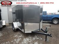 HAULIN 5X8 ENCLOSED - TAPERED V-NOSE, SCREWLESS EXTERIOR! London Ontario Preview