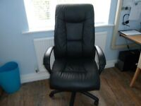 Black Leather office reclining chair