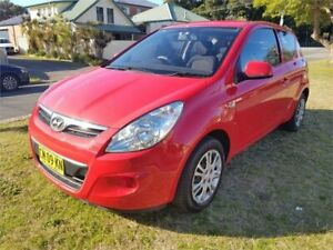 2011 Hyundai i20 PB MY11 Active Red 5 Speed Manual Hatchback Broadmeadow Newcastle Area Preview