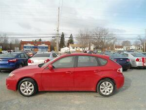 2009 IMPREZA AWD, NEW TIRES, NEW MVI, AUX, GORGEOUS RED !