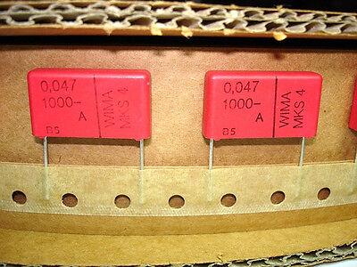 6pcs .047uf 1kv 1000v 10 Wima Mks4 Guitar Tube Amp Amplifier Capacitors New