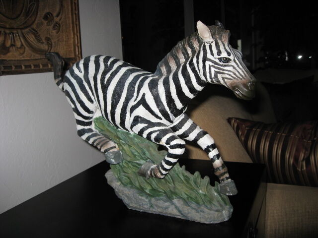 Exquisite and Exceptional Zebra Statue – Blue Eyed/Gallop