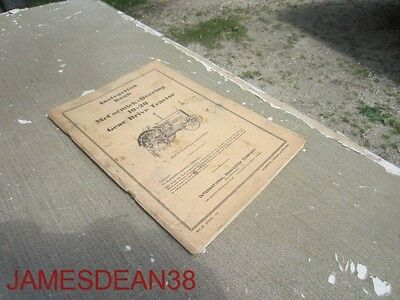 Original Mccormick-deering 10-20 Tractor Owners Manual Instruction Book Ihc