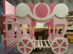 ♥‿♥ .. CINDERELLA CARRIAGE Twin over Twin BUNK BED .. ♥‿♥