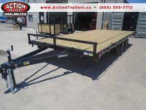 5 TON DECK OVER EQUIPMENT TRAILER - SALE PRICED, 102''X18' LONG London Ontario image 1