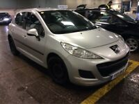 2011 PEUGEOT 207 1.4 S PETROL MANUAL 5 DOOR HATCHBACK SILVER 5 SEAT FAMILY CAR N GOLF FOCUS ASTRA