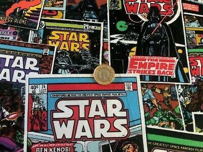 STAR WARS COMIC 100%  cotton fabric fat quarter material mask MAKING superheroes