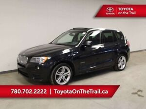 2013 BMW X3 35i M PACKAGE; PANORAMIC SUNROOF, HUD, LEATHER, NA