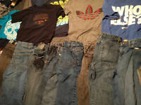 Boys size 14 lot jeans & shirts