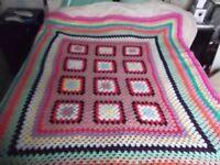 Hand crocheted blanket/bedspread