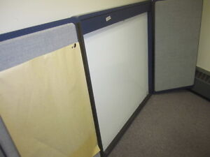 Large white board with doors