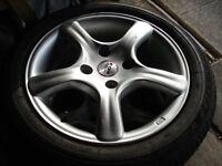 Fox Alloy Wheels and Tyres x 4 .
