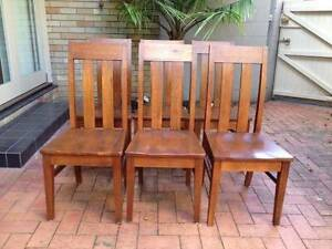 Set of 6 wooden dining chairs Wollstonecraft North Sydney Area Preview