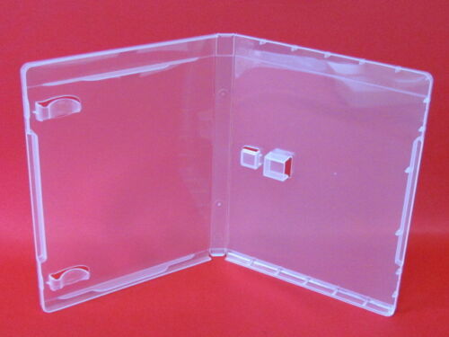 50 14mm High Quality  Clear USB Case with Sleeve & Booklet Clips - BJ01