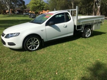 2012 Ford Falcon FG MK2 XT White 6 Speed Manual Cab Chassis Tuggerah Wyong Area Preview