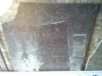 Two nice pieces of granite. Would make nice table tops etc.