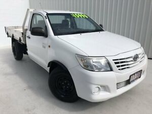 2013 Toyota Hilux TGN16R MY12 Workmate 4x2 White 5 Speed Manual Cab Chassis Mundingburra Townsville City Preview
