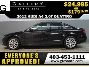 2012 AUDI A4 2.0T QUATTRO *EVERYONE APPROVED* $0 DOWN $179/BW