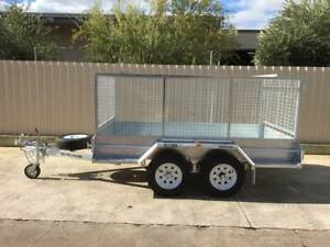 12X6 COMMERCIAL GALVANISED TANDEM TRAILER WITH CAGE BRAKES AND RAMPS Pooraka Salisbury Area Preview