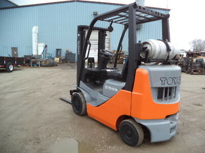 2009-2010 Toyota Model 8fgcu25 5000 5000 Cushion Tired Forklift 118 Lift