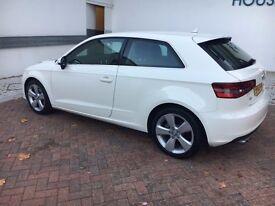 Audi A3 SPORT 2.0 TDI - 3 Door - Diesel - Amalfi White - 12 MonthsMOT