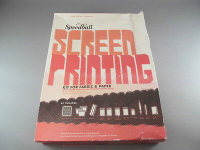Vintage Speedball Screen Printing Kit For Fabric Or Paper No Instructions (Fabric Screen Printing Kit)